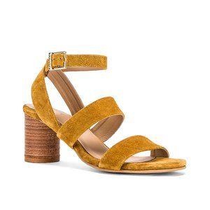 NWT Kaanas Noosa Strappy Sandal in Mustard Suede 8
